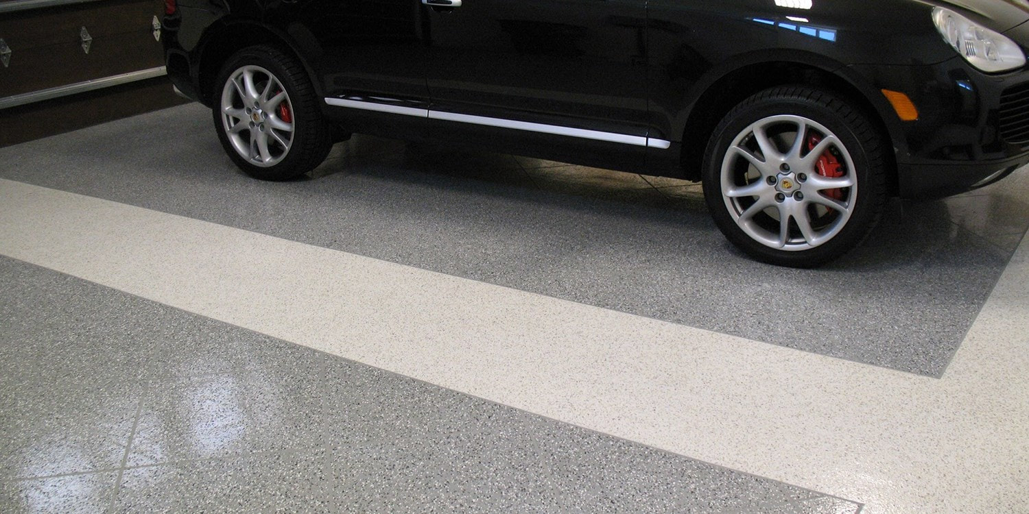 This is a picture of an epoxy garage services.